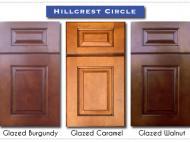 Green Forest: Heart & Home Collection - Hillcrest Circle - Glazed Burgundy, Glazed Caramel, Glazed Walnut
