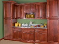 Wolf Classic: Hudson Cabinetry in Crimson w/ Chocolate Glaze