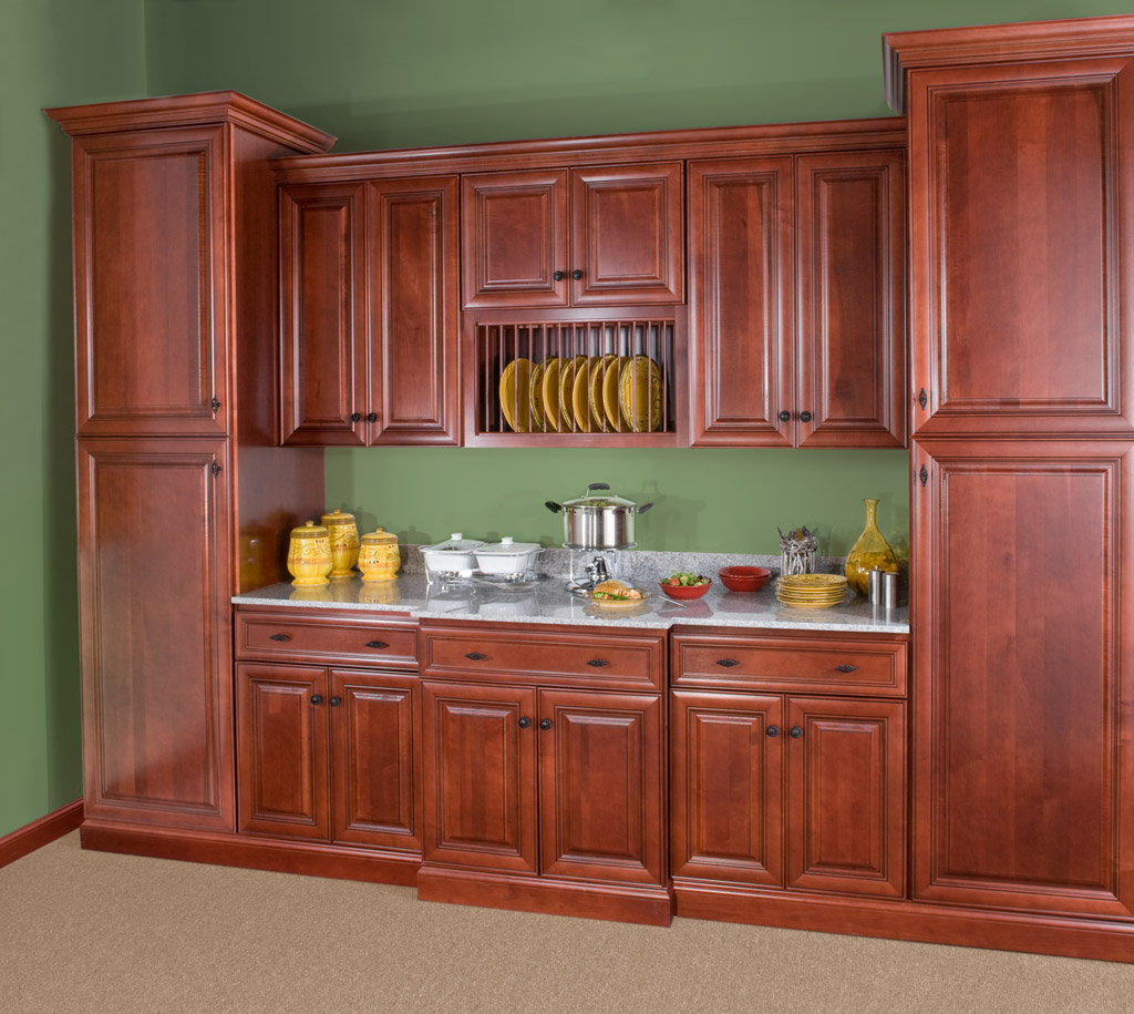 Wolf Classic: Hudson Cabinetry in Crimson w/ Chocolate Glaze - Wolf Classic Cabinets South Jersey & Philadelphia Www