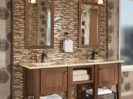 KraftMaid Vanity: Cherry Bathroom in Husk