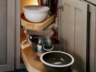 KraftMaid Kitchen Innovations: Base Blind Corner w: Wood Lazy Susan (WLS_0000)
