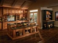 Kraftmaid: Kitchen in Rustic Birch in praline-and-cherry-vintage-onyx