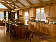 Kraftmaid: Hickory Kitchen in Honey Spice