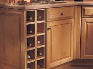 KraftMaid Kitchen Innovations: Base Wine Rack Cabinet