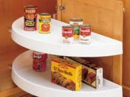 Kitchen Kompact Custom Touches: Rev-a-Shelf Half-Moon Shelf