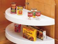 Kitchen Kompact Custom Touches: Rev-a-Shelf Half-Moon Shelf