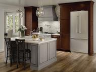 Kraftmaid: Maple Kitchen in Aged River Rock and Kaffe Cherry