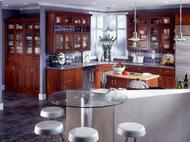 Kraftmaid: Cherry Kitchen in Autumn Blush with Cascade Glass Doors