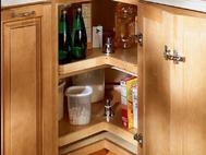 KraftMaid Kitchen Innovations: Easy Reach Wood Lazy Susan