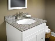 Wolf Natural Granite Vanity: Burlywood