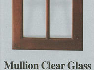 Wellbuilt: Mullion Clear Glass Dark Wood