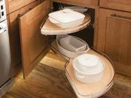KraftMaid Kitchen Innovations: Base Blind Corner w: Chrome Swing-out