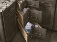 KraftMaid Kitchen Innovations: Corner Drawers
