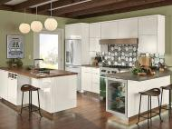 Kraftmaid: High Gloss Foil Kitchen in Dove White
