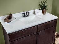 Wolf Vanity Tops: Cultured Marble Linen on Wolf Classic Dartmouth Dark Sable
