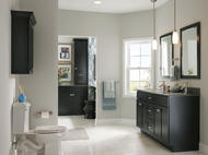 KraftMaid Vanity: Maple Bathroom in Onyx