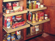 Kitchen Kompact Custom Touches: Pantry Roll-Out Trays