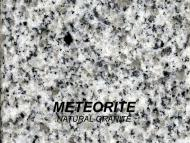 Wolf Palette Collection: Meteorite Natural Granite