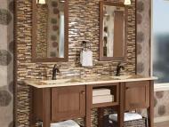 KraftMaid Vanity: Cherry Bathroom in Husk
