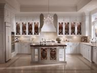 Kraftmaid: Maple Kitchen in Dove White with Palladia Glass Doors