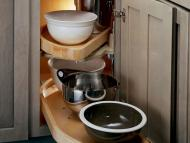 KraftMaid Kitchen Innovations: Base Blind Corner w: Wood Lazy Susan (WLS_0000)