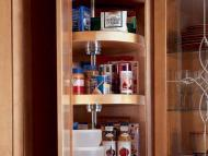 KraftMaid Kitchen Innovations: Wall Angle with Lazy Susan