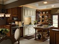 Kraftmaid: Kitchen in Chocolate and Canvas with Cocoa Glaze