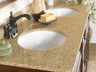 Wolf Natural Granite Vanity: Wheat