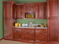 Wolf Classic: Hudson Cabinetry in Crimson w/ Chocolate Glaze