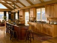 Kraftmaid: Hickory Kitchen in Honey Spice