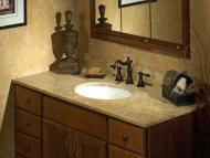 Italian Marble in Mochaccino Vanity Top from the Palette Collection