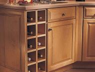 KraftMaid Kitchen Innovations: Base Wine Rack Cabinet