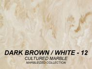 Wolf Palette Collection: Dark Brown/White (12) Cultured Marble Marbleized Collection