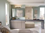 KraftMaid Vanity: Maple Bathroom in Pebble Grey