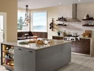 Kraftmaid: High Gloss Foil Kitchen in Greyloft