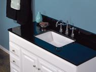 Wolf Natural Granite Vanity: Absolute Black