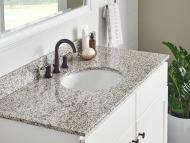 Wolf Natural Granite Vanity: Tiger Skin White