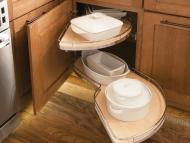 KraftMaid Kitchen Innovations: Base Blind Corner w: Chrome Swing-out