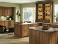Kraftmaid: Rustic Cherry Kitchen in Husk