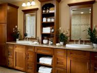 KraftMaid Vanity: Cherry Bathroom in Cognac