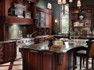 Kraftmaid: Kitchen in Cherry in Kaffe