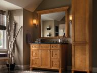 KraftMaid Vanity: Maple in Praline Bathroom