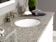 Wolf Natural Granite Vanity: Rio Roca