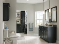 KraftMaid Vanity: Maple Bathroom in Onyx