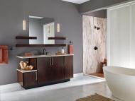 KraftMaid Vanity: Maple Bathroom in Peppercorn